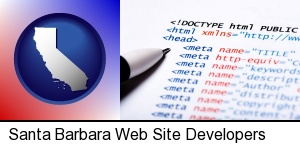 web site HTML code in Santa Barbara, CA