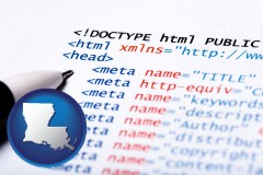 louisiana web site HTML code
