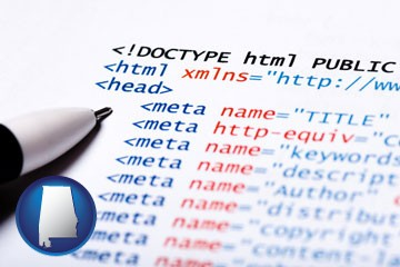 web site HTML code - with Alabama icon