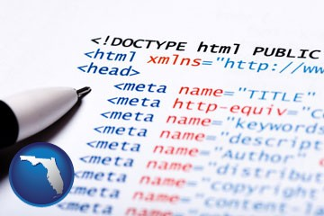 web site HTML code - with Florida icon