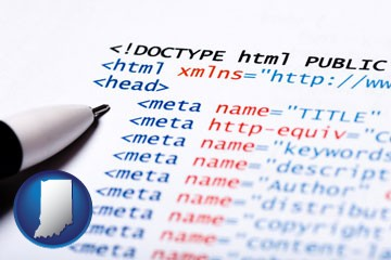 web site HTML code - with Indiana icon