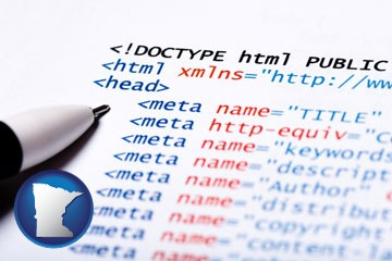 web site HTML code - with Minnesota icon