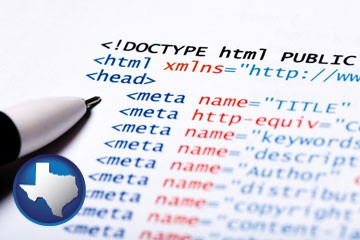 web site HTML code - with Texas icon